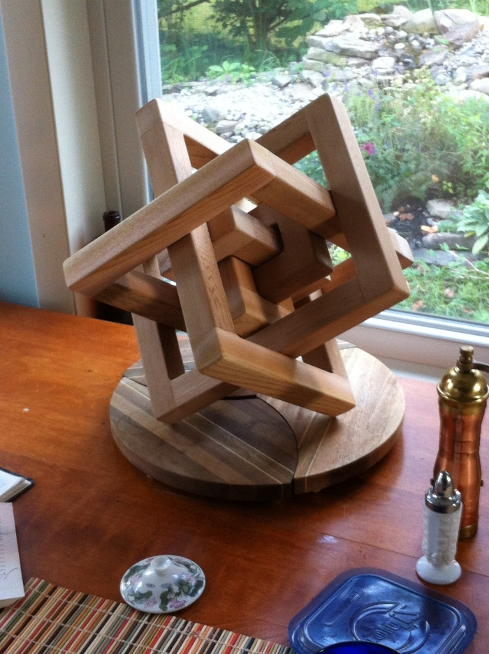 What do you do with scraps of really nice Cedar? This sculpture was a deck warming gift.