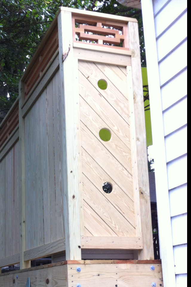 Things are often defined by what is not there/negative space. This is some detail I added to a recent deck job.